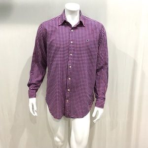 Vineyard Vines Mens Purple Gingham Plaid Shirt